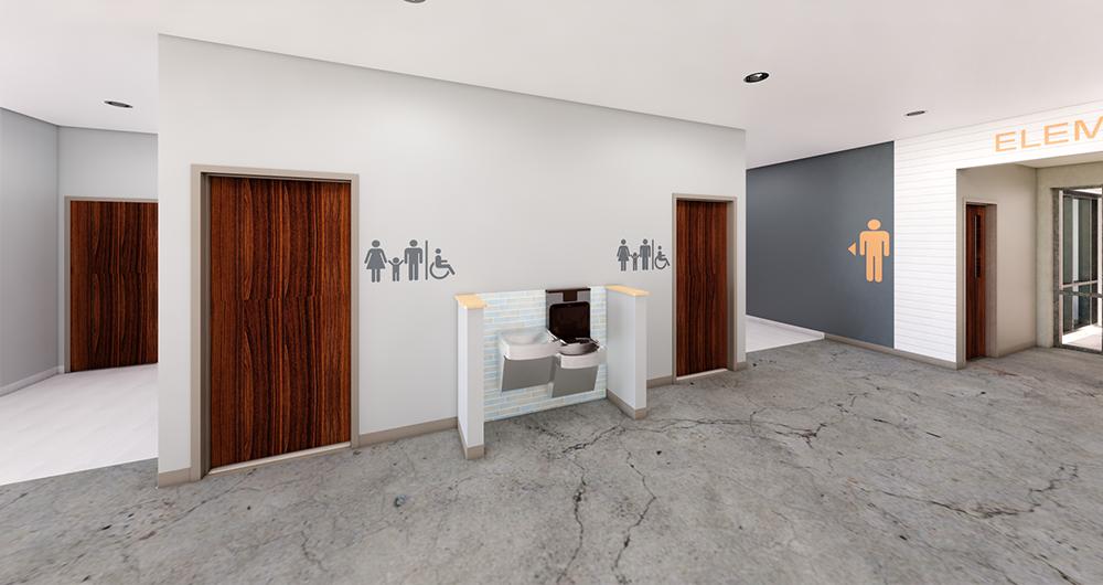 Chapel Pointe Restroom Corridor