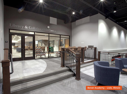 benet-academy-library-entrance